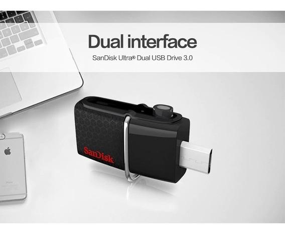 Pendrive 128gb Sandisk Ultra Dual Drive Usb 3.0 Otg Compacto