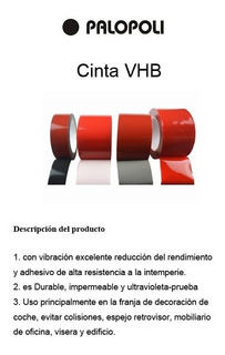 Cinta Doble Contacto Transparent 25mm Largo 30m Vhb Palopoli