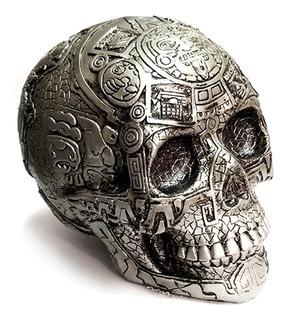 Cráneo Azteca Decorado Hecho En México