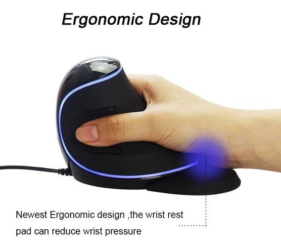 1-mouse Vertical Ergonômico C/fio - Delux M618 Plus Original