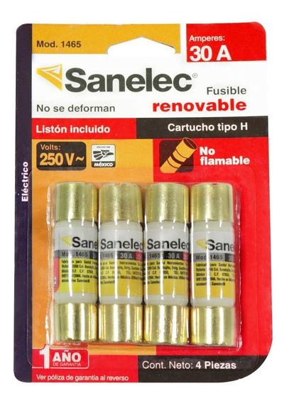 Sanelec 1465 Paquete De 4 Fusibles 30a