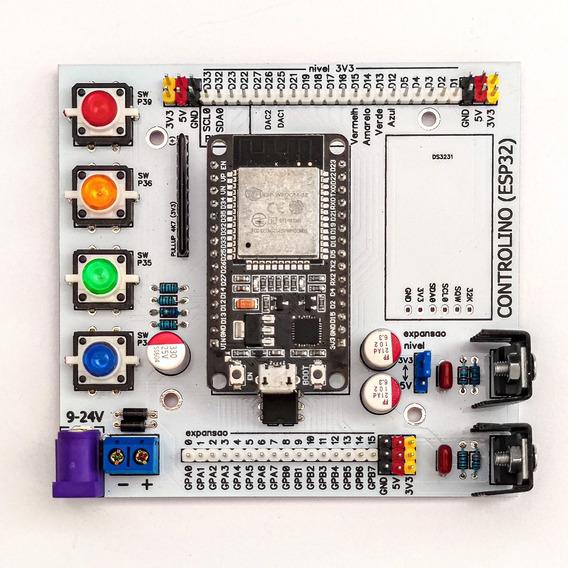 Shield Esp32 Mcp23017 Expansor De Portas Com Botões E Fonte