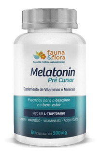 Suplemento Melatonin Pré-cursor Do Sono 500mg 60caps Faun...