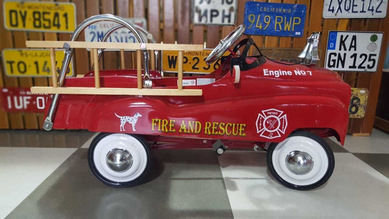 Pedal Car Bombeiros Antigo