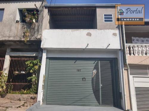Casa Com 2 Dormitórios À Venda, 108 M² Por R$ 180.000,00 - Conjunto Habitacional São José - Campo Limpo Paulista/sp - Ca0539