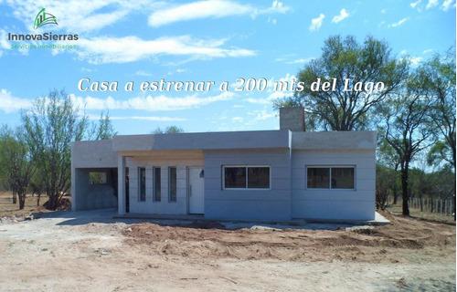 Venta Casa A Estrenar A 200 Mts Del Lago Boca Del Río, Oportunidad En Traslasierra