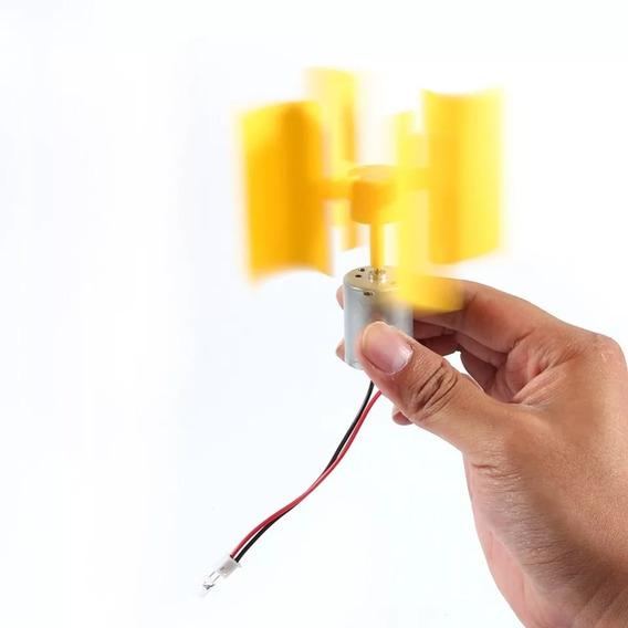 Mini Gerador De Energia Eólica 5.5v Para Projetos Escolares