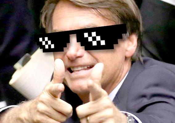 Óculos Da Zueira - Thug Life - Bolsonaro Mito