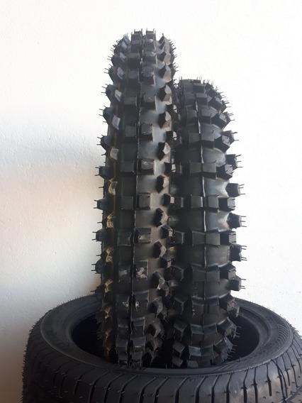 Pneu Moto Trilha Cross 100/100/18 + 275/21 Remold