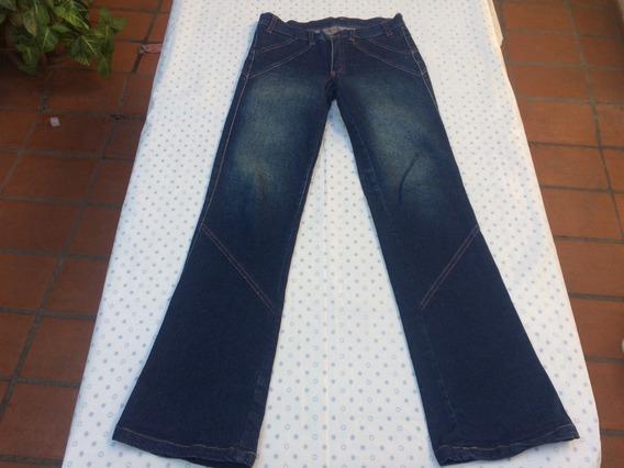 Jean Pantalon Mujer Azul Elastizado Levanta Cola Talle 40