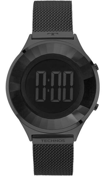 Relógio Technos Feminino Crystal Bj3572ab/4p Preto Digital