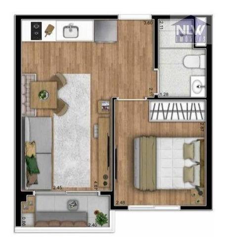 Imagem 1 de 24 de Studio Com 1 Dormitório À Venda, 29 M² Por R$ 238.080,01 - Vila Santa Catarina - São Paulo/sp - St0221