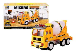 Brinquedo Caminhão Betoneira Com Música Luzes