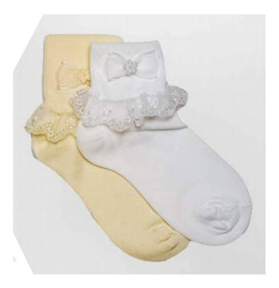 Set 3 Calcetas Con Olanes Para Niña De Bebe A 9 Años S