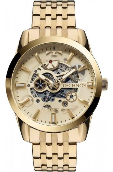 Relógio Masculino Technos Automático Dourado 8205nq/4x