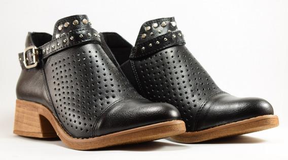 Zapatos Mujer Botas Botinetas Eco Cuero Dama 36 Al 40