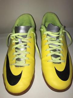 Chuteira Futsal Nike Mercurial Vortex Verde E Amarelo