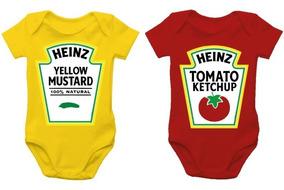 Body De Bebê - Heinz - Ketchup + Mostarda
