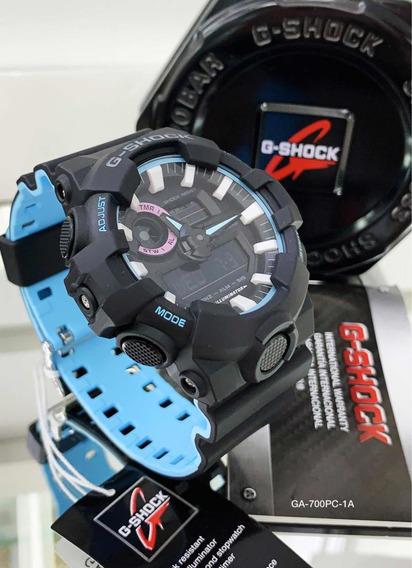 Relógio G-shock Ga-700pc-1a Com Pulseira Bicolor