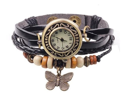 Relojes Mujer Mariposa Vintage Negro
