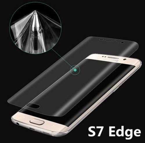 Mica Protector Borde Curvo  Pet 3d S7 Edge  S6 Edge Plus