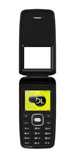 Celular Dl Flip Tela 1.8 Câmera Digital Dual Yc-330 - Preto
