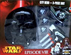Mascara Star Wars + Luz + Lanzadora Juguete Darth Vader Niño