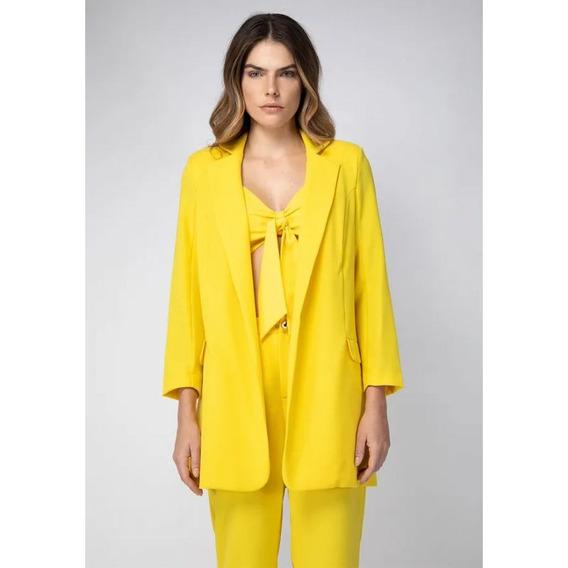 Blazer Alongado Amarelo Lança Perfume
