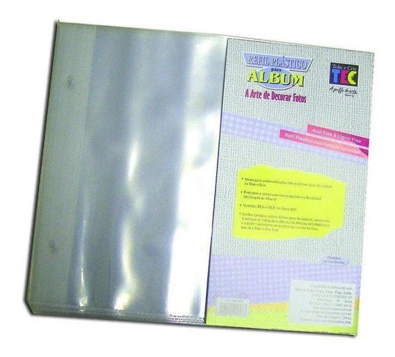 Refil Plástico Toke E Crie Para Album De Scrapbook Com 10 U