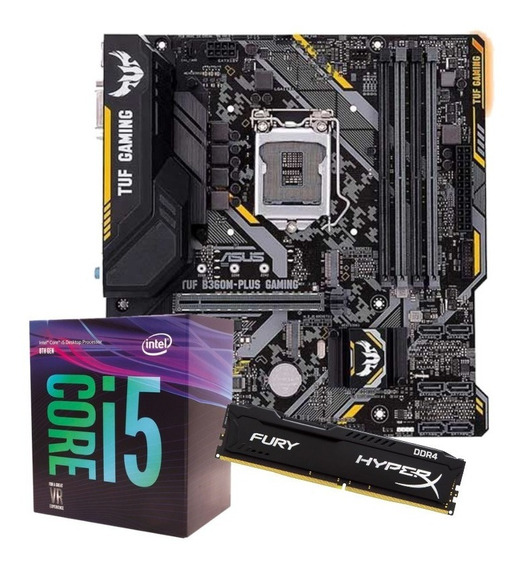 Kit Intel Core I5 8400 Tuf B360m Plus Gaming 8gb Fury Ddr4