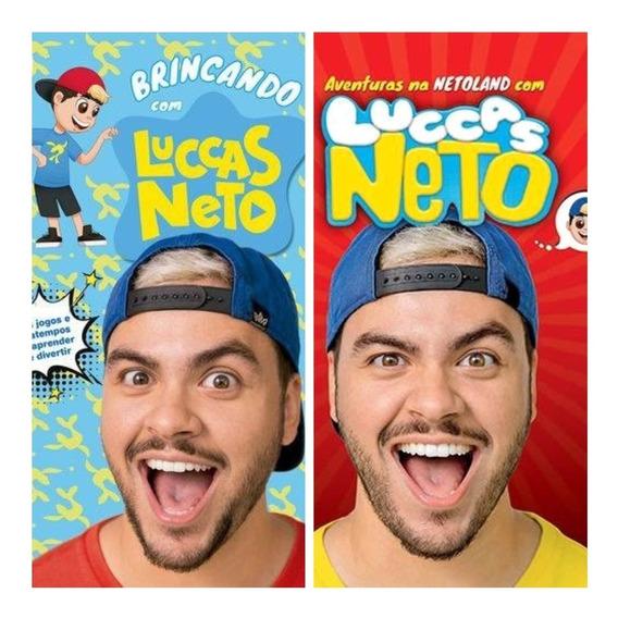 Kit 2 Livros Luccas Neto Brincando + Aventura Na Netoland