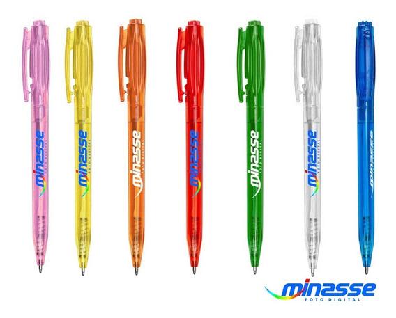 100 Canetas Mod. 6161t Brindes Personaliz. - Impressão Color