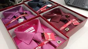 01 Kit Camisa Punho Duplo Importada Alta Qualidade + Bindes