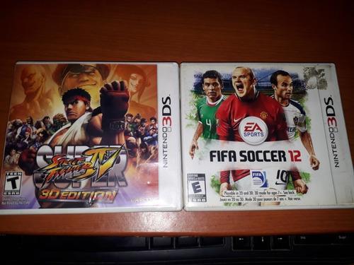 Juegos Nintendo 3ds Super Street Figther Y Fifa 12