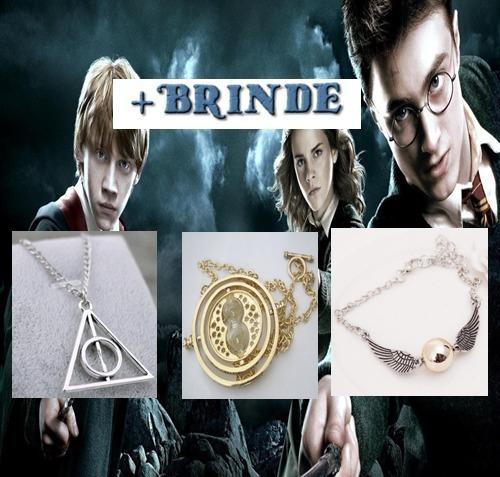 Colar Vira Tempo Pomo De Ouro Relíquias Harry Potter