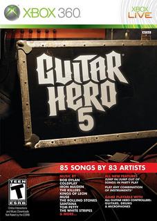 Guitar Hero 5 Xbox 360 Nuevo Y Sellado