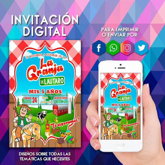 Invitacion Granja Zenon Invitaciones Y Tarjetas En Mercado
