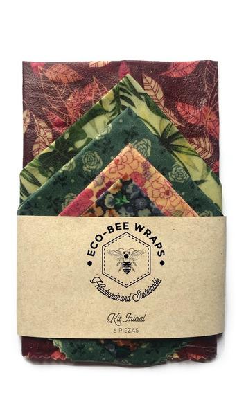 Envoltura Para Alimentos Beeswax Wrap Encerada Kit Inicial