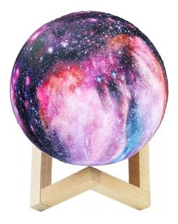 Velador Luna Galaxia Universo Táctil 14cm Marte