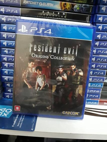 Jogo Ps4 Resident Evil Origins Collection Playstation 4 Novo