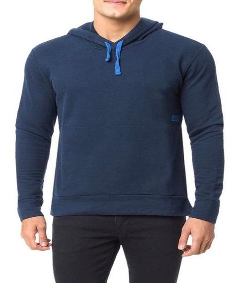 Blusa Moletom Calvin Klein Ck Jeans Masculino Azul Original