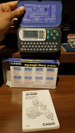 Agenda Eletrônica Casio Anos90 My Magic Diary Jd-5000bk