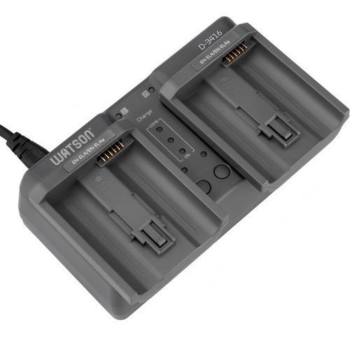 Carregador De Bateria Duplo Watson Para Nikon En-el18 En-el4