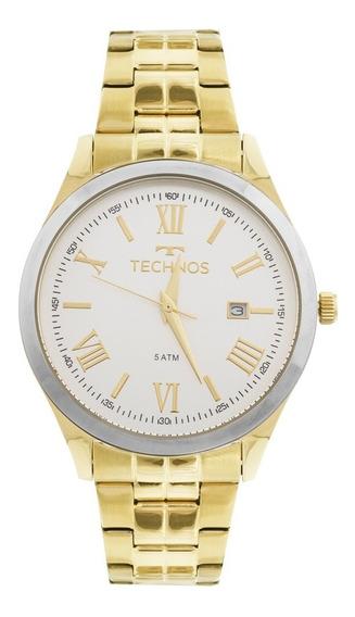 Relógio Technos Dourado Feminino Elegance Dress 2115mgm/4k