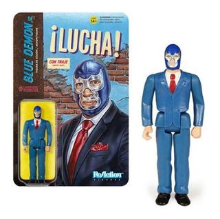 Blue Demon Jr. Con Traje Reaction 3.75 Super7 Lucha Libre