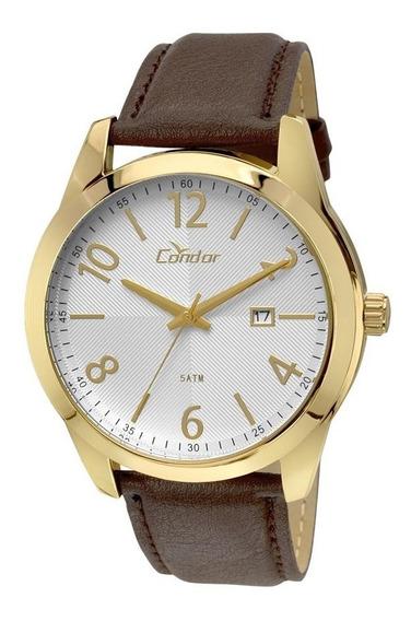 Relógio Condor Masculino Couro Marrom Casual Co2115vl/2k