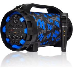 Caixa Som Amplificada Bluetooth Canhão 1000w Pmpo Fm Usb Mp3