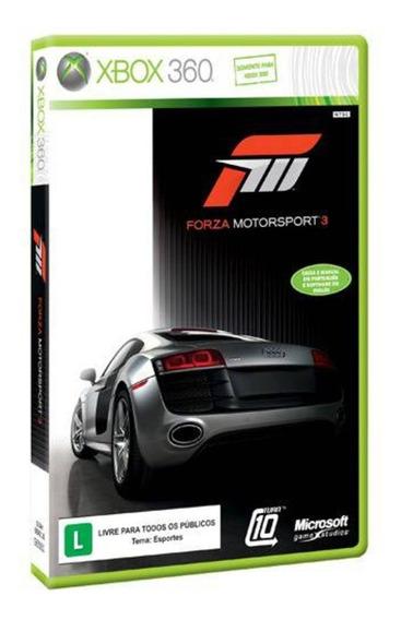Xbox 360 - Forza Motorsport 3 - Novo Mídia Física C/ Nf