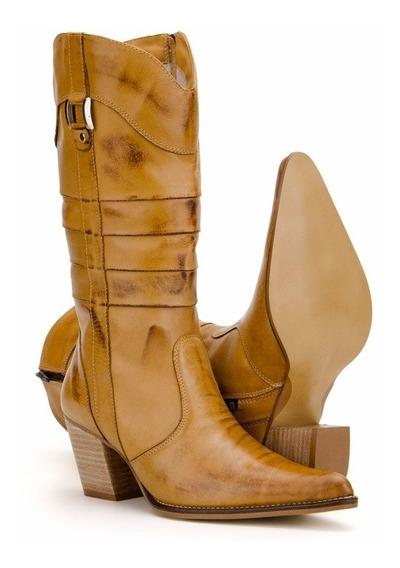 Bota Feminina Country Texana Couro Capelli Boots - Promoção