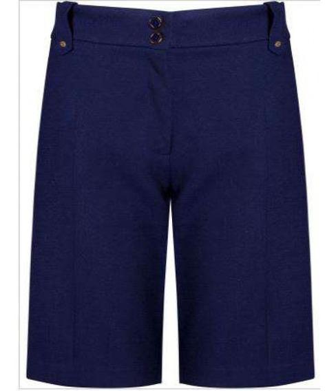 Bermuda Linho Misto Seiki 660128 - Azul - Delabela Calçados